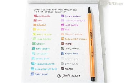 Stabilo 4 All Inner Box Black stabilo point 88 fineliner marker pen 0 4 mm 25 color
