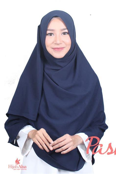 Jilbab Pasmina Instan Kia Polos Pashmina Instan Navy Alsa Khimar Kerudung Syar I