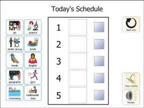 visual schedule template autism visual schedule template