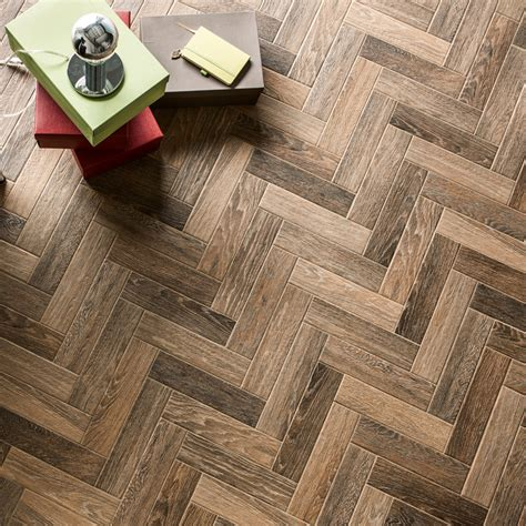 herringbone brown wood tiles porcelain superstore