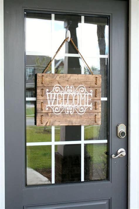 Welcome Sign For Front Door Rustic Wood Rope Welcome Sign Custom Welcome By Silvadesignllc Mini Mall Viral Board