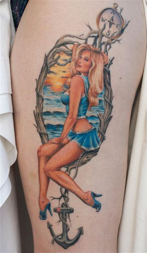 nautical pin up by gabe morton tattoonow