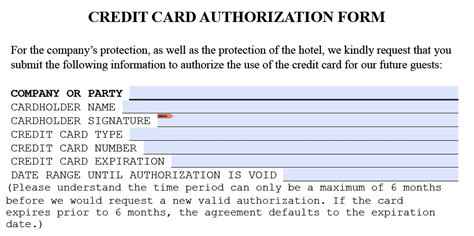 Credit Card Authorization Form Quality Inn Hotel Credit Card Authorization Form 15797078 Png Manager