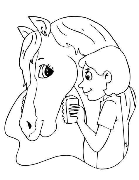 pony horse coloring pages for girls
