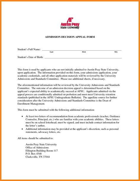 College Application Appeal Letter college appeal letter teller resume sle