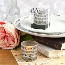 Musical Favors by Musical Note Design Candles Musical Theme Wedding Favors