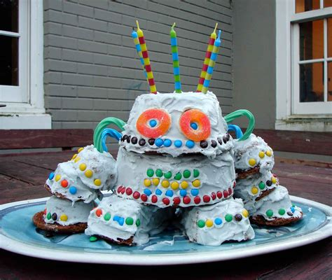 birthday cake robot cake decoration ideas little birthday cakes