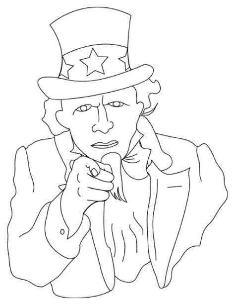 coloring page uncle sam to print ad free click here or right click on the image