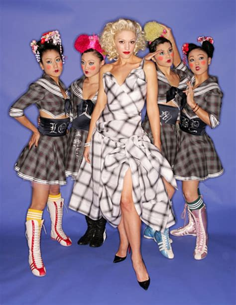 gwen stefani harajuku girls december 8 2004 gwen stefani s style evolution us weekly