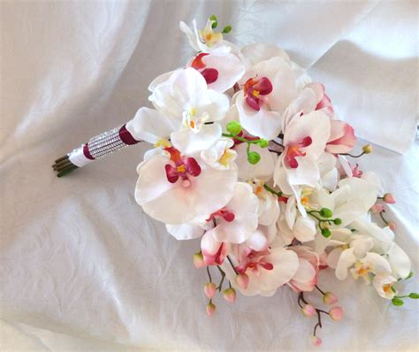 orchid wedding bouquet cascade orchid bouquet phalaenopsis orchid bouquet tropical