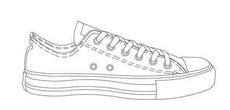 shoe drawing template easy drawing of converse shoe drawing