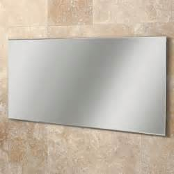 Hib willow rectangular bathroom mirror with bevelled edges w1200 x