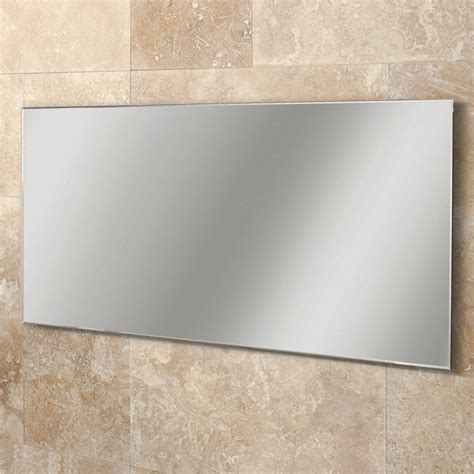 hib willow rectangular bathroom mirror with bevelled edges