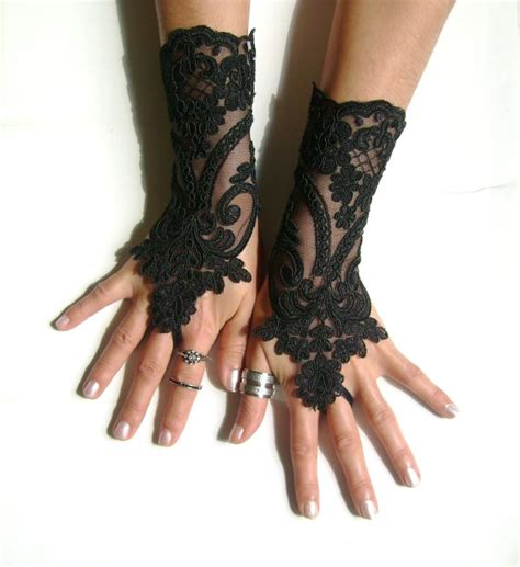 Lace Wedding Gloves black lace gloves lace bridal gloves lace wedding