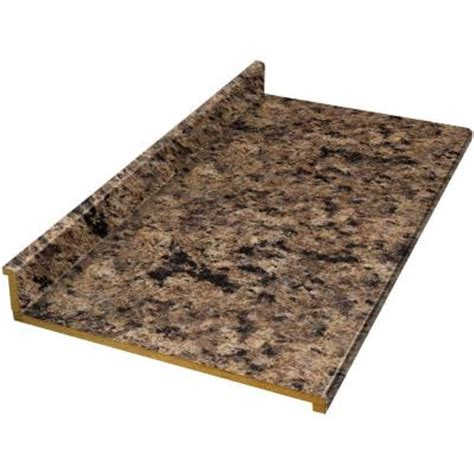 countertops home depot hton bay tempo 8 ft laminate countertop in milano