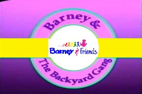 Barney And The Backyard Logo by Image Barney Custom Logo 1992 1993 Logo Rainbow