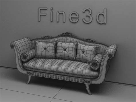 old fashion couch old fashioned sofa 3d model max obj 3ds cgtrader com