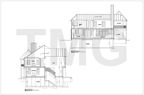 Plan Section Drawing by House Plans Drafting The Magnum Tmg India