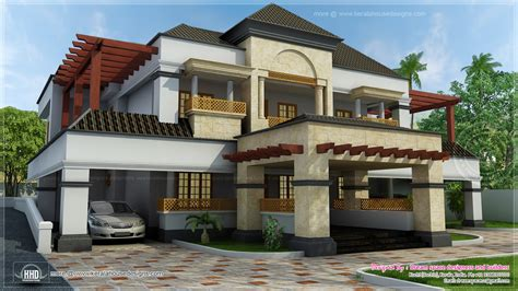 square feet fusion mix  arabic style home kerala home design  floor plans