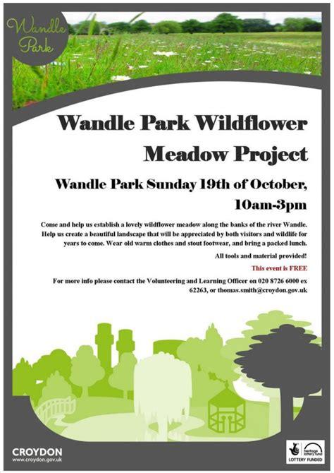 wandle deco wandle park wildflower meadow project oct 19 inside croydon
