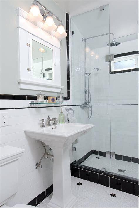 vintage black and white bathroom ideas vintage black and white ny bathroom bathrooms pinterest