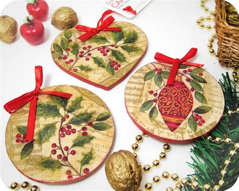 decoupage christmas ornaments christmas craft ideas