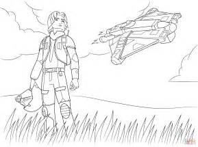 star wars rebel ezra bridger coloring free printable coloring pages