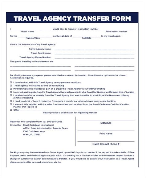 travel agency forms templates 31 reservation form templates