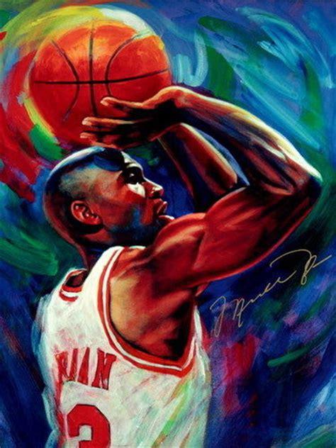basketball pop art paintings michael jordan chicago bulls nba basketball quality print