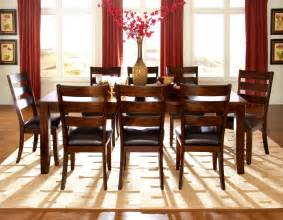 homelegance louise 9 dining room set in rustic