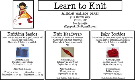 Learn To Knit Creatys For