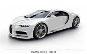 All White Bugatti Rendering Bugatti Chiron Dubai Car