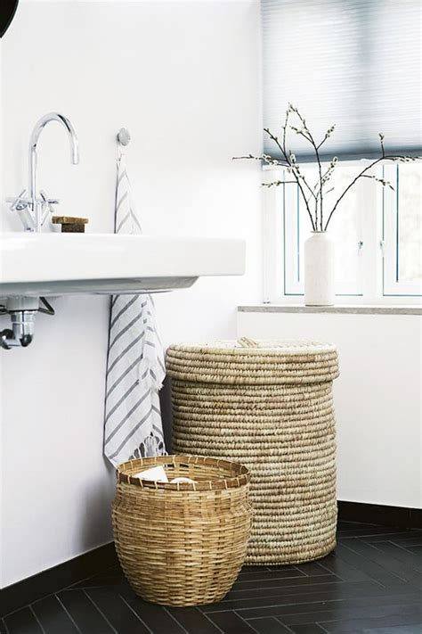 bathroom towel storage baskets 20 cozy basket storage ideas for every home shelterness