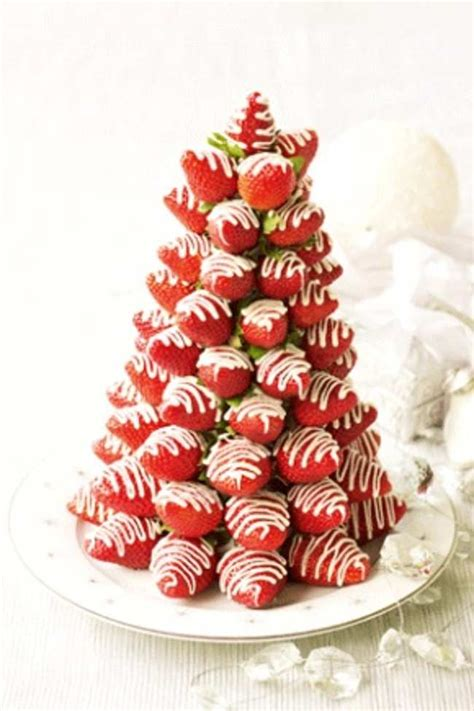 strawberry christmas tree dessert xmas party pinterest