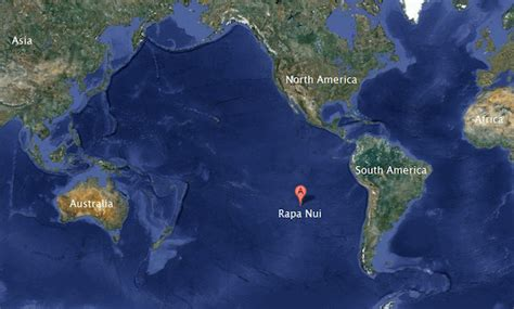 where is easter island on a world map easter island rapa nui