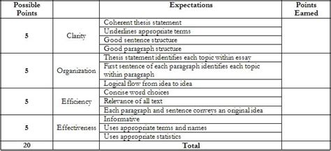 5 paragraph essay grading rubric like success