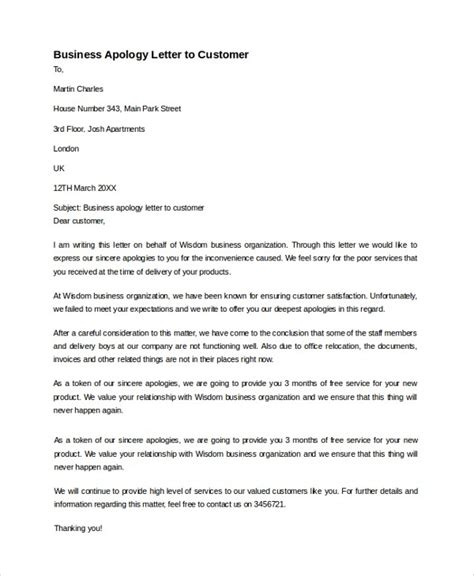 Business Apology Letter Wording business apology letters the best letter sle