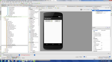 android studio absolutelayout android button shows in emulator but not in real device