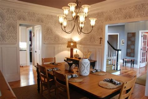 wallpaper for dining rooms 13 cozy and inviting country style dining rooms