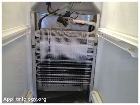 kenmore side by side refrigerator evaporator fan not working frigidaire sxs refrigerator evaporator coil with a poor