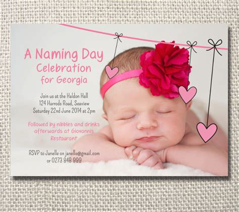 Invitation Letter Format For Naming Ceremony sle naming ceremony invitation template 15 documents in psd pdf