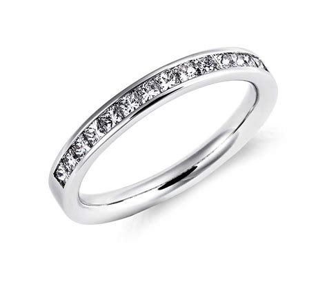 channel set princess cut ring in 14k white gold 1