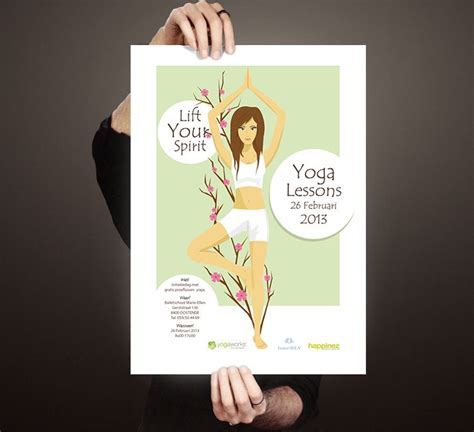 poster design yoga yoga event poster design graphic own work pinterest