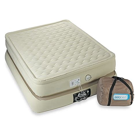 bed bath and beyond air bed aerobed 174 raised mattress pillowtop bed bath beyond