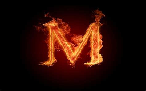 Fireplace Flames by Letter M Wallpaper