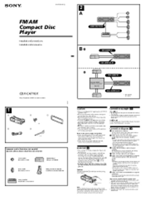 sony fm am compact disc player wiring diagram cdx ca710x wiring sony fm am compact disc player