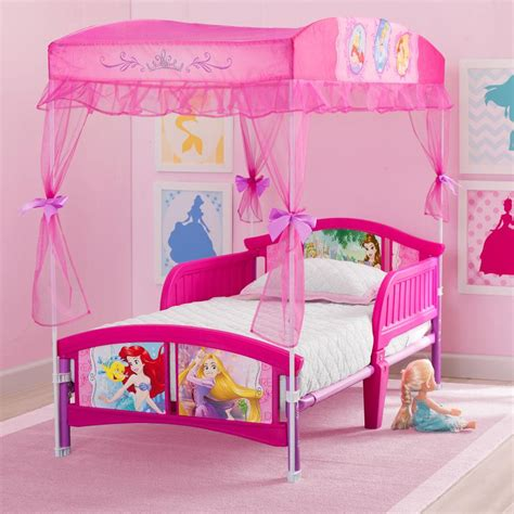 new disney princess canopy toddler bed pink model