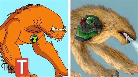 Kaos 3d Dinosaurus Goo Orange 10 ben 10 aliens in real clipzui