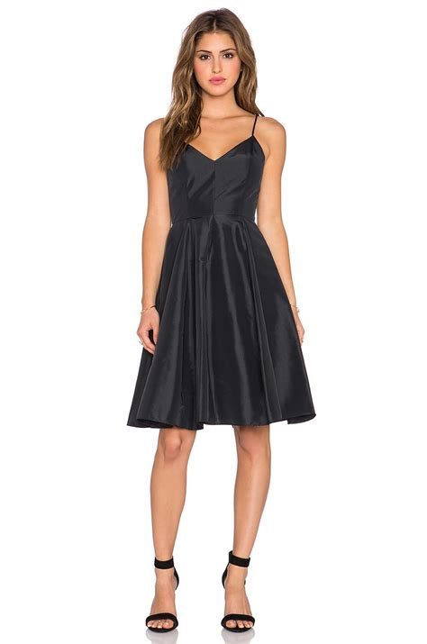 Dress Mini Dress Sabrina Dress Black Dress taffeta mini dress in black lyst
