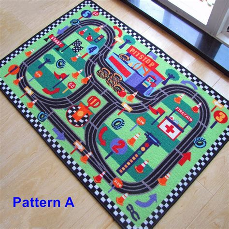 High Quality Car Racing Circuit Urban Road Traffic Baby Car Rugs For